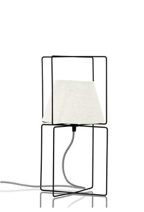 New Kengo - Lampă de masă neagră tip cușcă