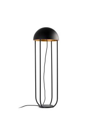 JELLYFISH 6W - Lampă podea neagră în forma de meduză cu finisaj auriu