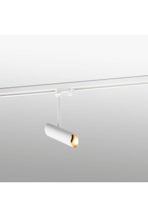 LINK GU10 - Proiector pe șină alb cu finisaj auriu ajustabil din oțel