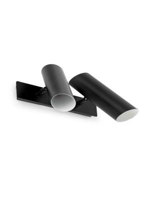 LINK Neagră 2xGU10 - Aplică