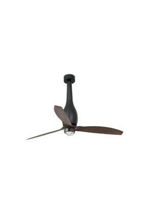 Eterfan - Ventilator Smart cu lumină  negru din lemn