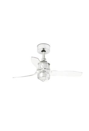 Just - Ventilator cu lumină argintiu