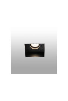 HYDE - Spot încastrat pătrat negru ajustabil