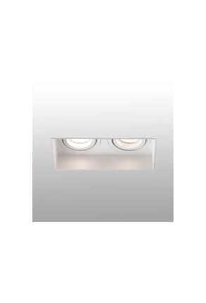 HYDE 2L GU10 - Spot încastrat alb rectangular cu 2 surse de lumină