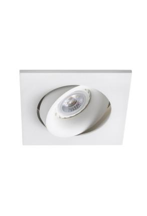 ARGON - Spot încastrat alb pătrat din aluminiu