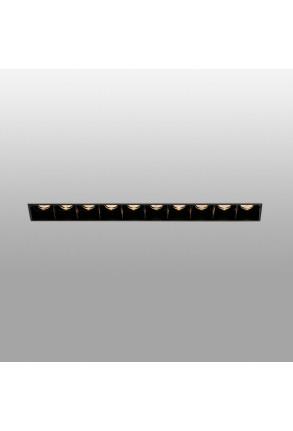 TROOP 10x2W - Spot încastrat negru din aluminiu cu 10 surse de lumină
