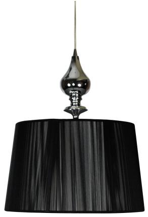 Gillenia - Pendul negru cu abajur cilindric