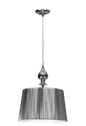 Gillenia - Pendul argintiu cu abajur cilindric