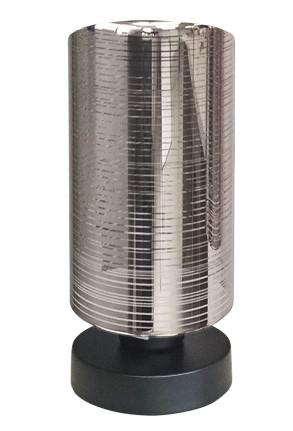 Cox - Lampă de masă cu abajur cromat și bază neagră