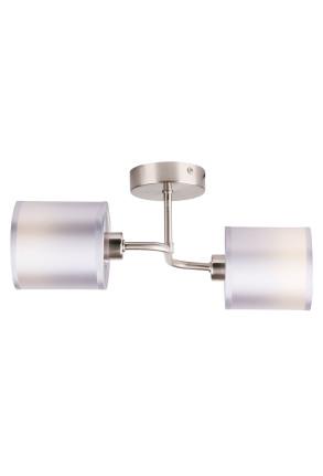 Sax - Plafonieră argintie cu 2 surse de lumină