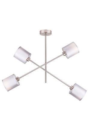 Sax - Lustră argintie cu 4 surse de lumină
