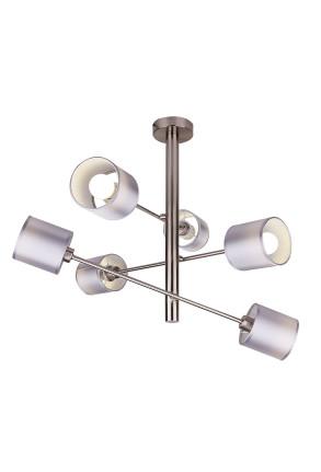 Sax - Lustră argintie cu 6 surse de lumină