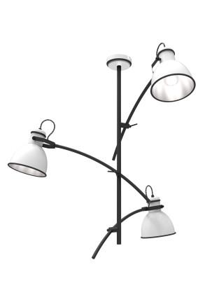 Zumba - Lustră cu 3 surse de lumină și finisaj negru