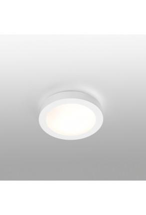 Logos - Plafonieră de baie albă din PMMA și aluminiu