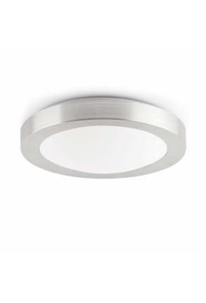 Logos - Plafonieră de baie argintie din PMMA și aluminiu