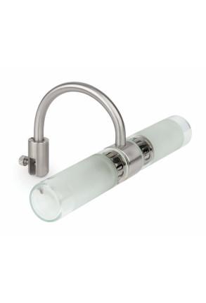 Relax 3 - Aplică de baie argintie din sticlă
