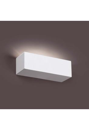 Eaco 218 - Aplică albă rectangulară din ghips