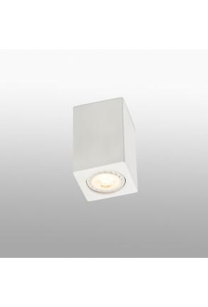 Sven - Spot aplicat alb rectangular din ghips