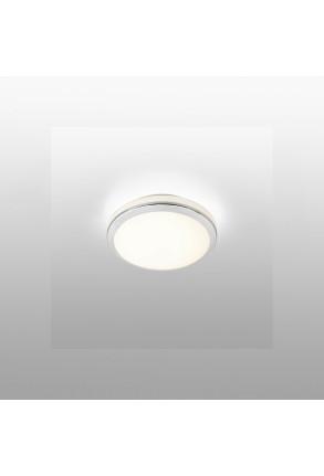 Cloe - Plafonieră de baie argintie rotundă