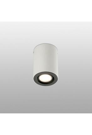NAN GU10 - Downlight cilindric alb cu finisaj negru din aluminiu