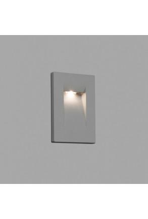 Horus 150 LED - Lampă încastrată în perete gri din aluminiu