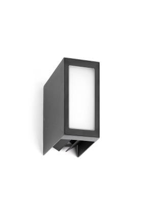 Log - Aplică rectangulară gri din aluminiu