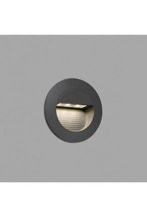 Mini Racing - Lampă încastrată în perete gri din aluminiu