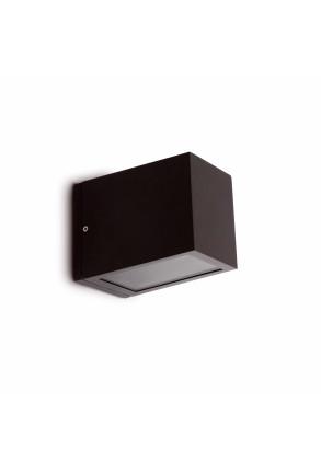 Lacre - Aplică rectangulară gri din aluminiu