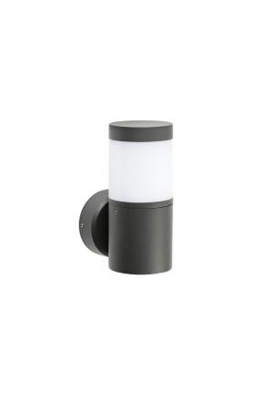 Plim - Aplică cilindrică gri din aluminiu