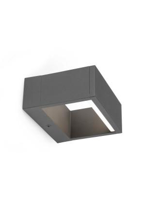 Alp - Aplică rectangulară gri din aluminiu