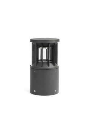 Screen II - Bolard gri cilindric