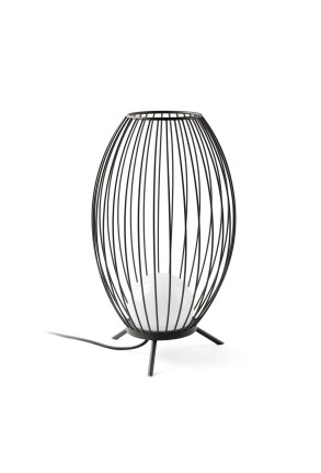 Cage - Lampadar gri  în formă de cușcă