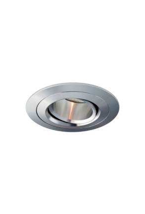 Titan - Spot încastrat argintiu ajustabil rotund