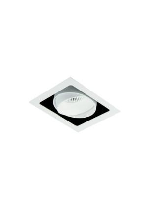 Cube I - Spot încastrat alb ajustabil