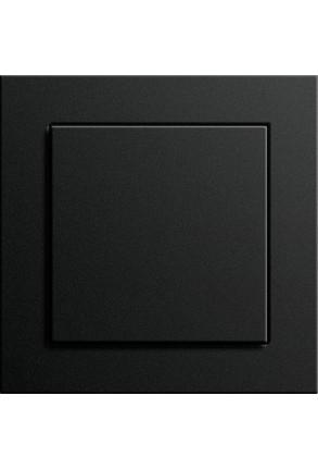 Întrerupator simplu GIRA cu ramă simplă negru mat si doza pentru perete gips-carton