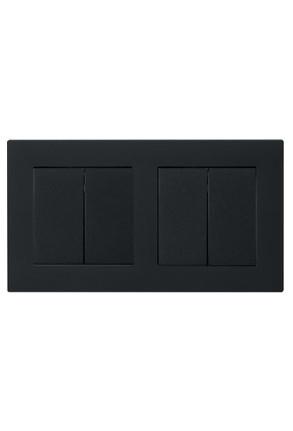 Doua întrerupatoaree duble GIRA cu ramă dublă negru mat si doza pentru perete gips-carton