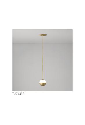 Alfi - Pendul încastrat auriu cu glob alb
