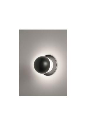 Alfi II - Aplică încastrată neagră cu glob alb