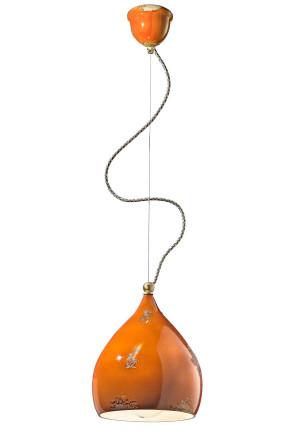 C1415 - Pendul retro verde sau portocaliu din ceramică