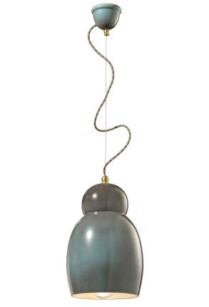 C1416 - Pendul retro maro din ceramică
