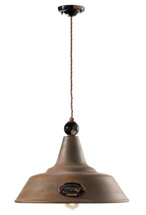 C1601 - Pendul retro maro din ceramică