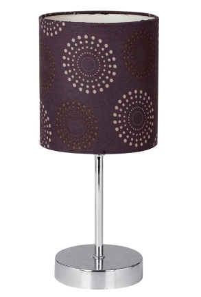 Emily - Lampă de masă cu abajur violet și bază argintie