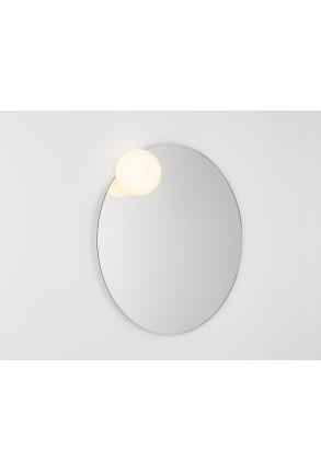 Circ Ø70 - Aplică de baie cu glob și bază rotundă oglindă cu sistem de dezaburire