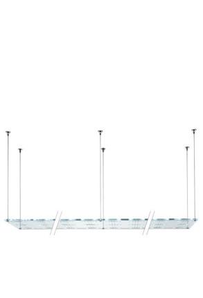 Sospesa A25 - Lampă suspendată de birou cu 72 surse de lumină din cristal