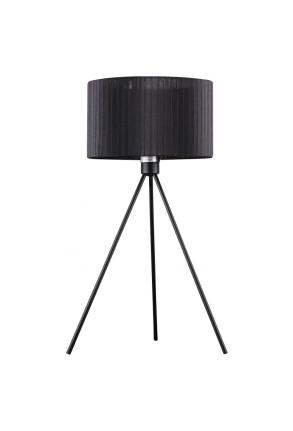 Diana - Lampă de masă cu abajur negru din material textil