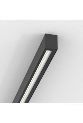 Easy Line WW - Profil liniar aplicat negru