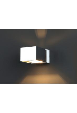 Flexi - Aplică argintie rectangulară din aluminiu