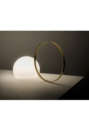 Circ II - Lampă portabilă cu mâner auriu