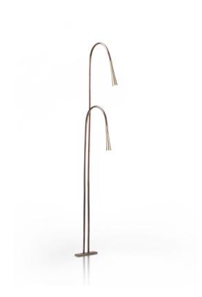 Giunco C51 - Lampă de podea formată din 2 tije îndoite