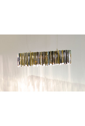 Facet Lonzenge 107 SS - Lustră argintie din oțel inoxidabil